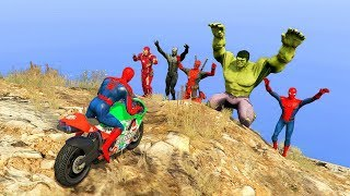 GTA 5 Crazy Ragdolls Spiderman Vs Marvel Heroes vol.2 (Euphoria Physics, Fails, Funny Moments)