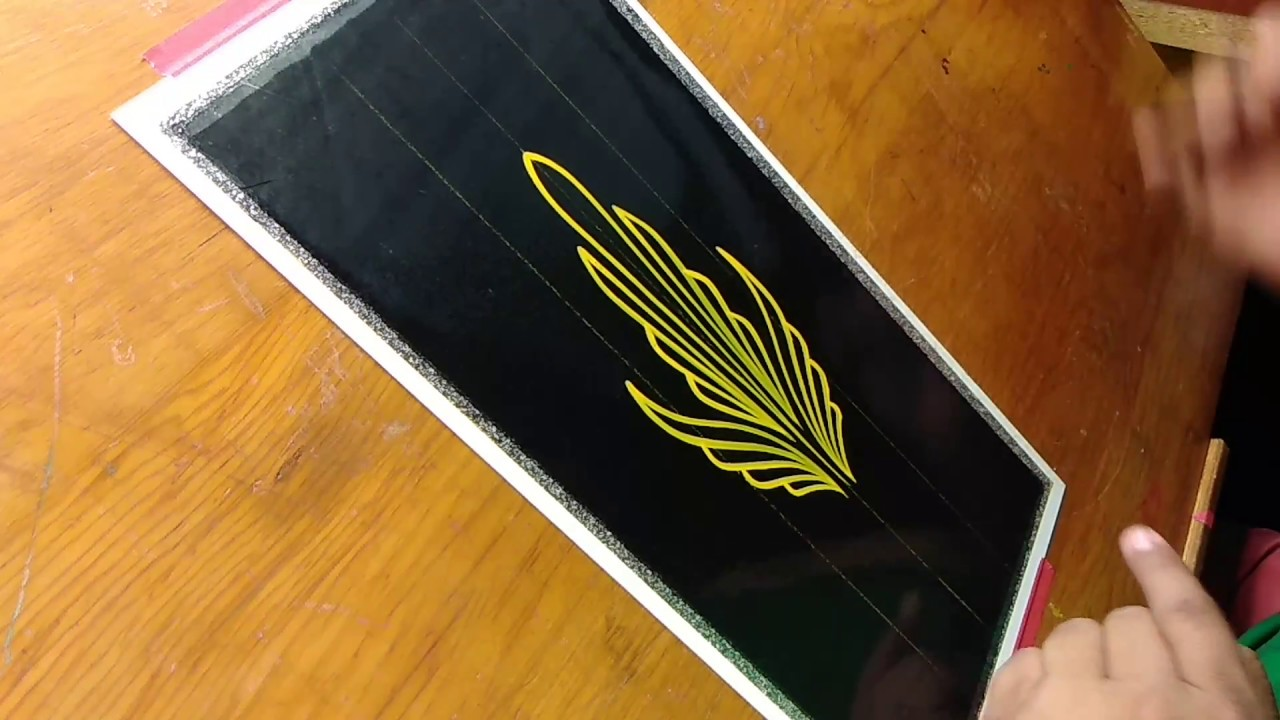 How To Pinstripe Simple Pinstriping Design 10 Youtube