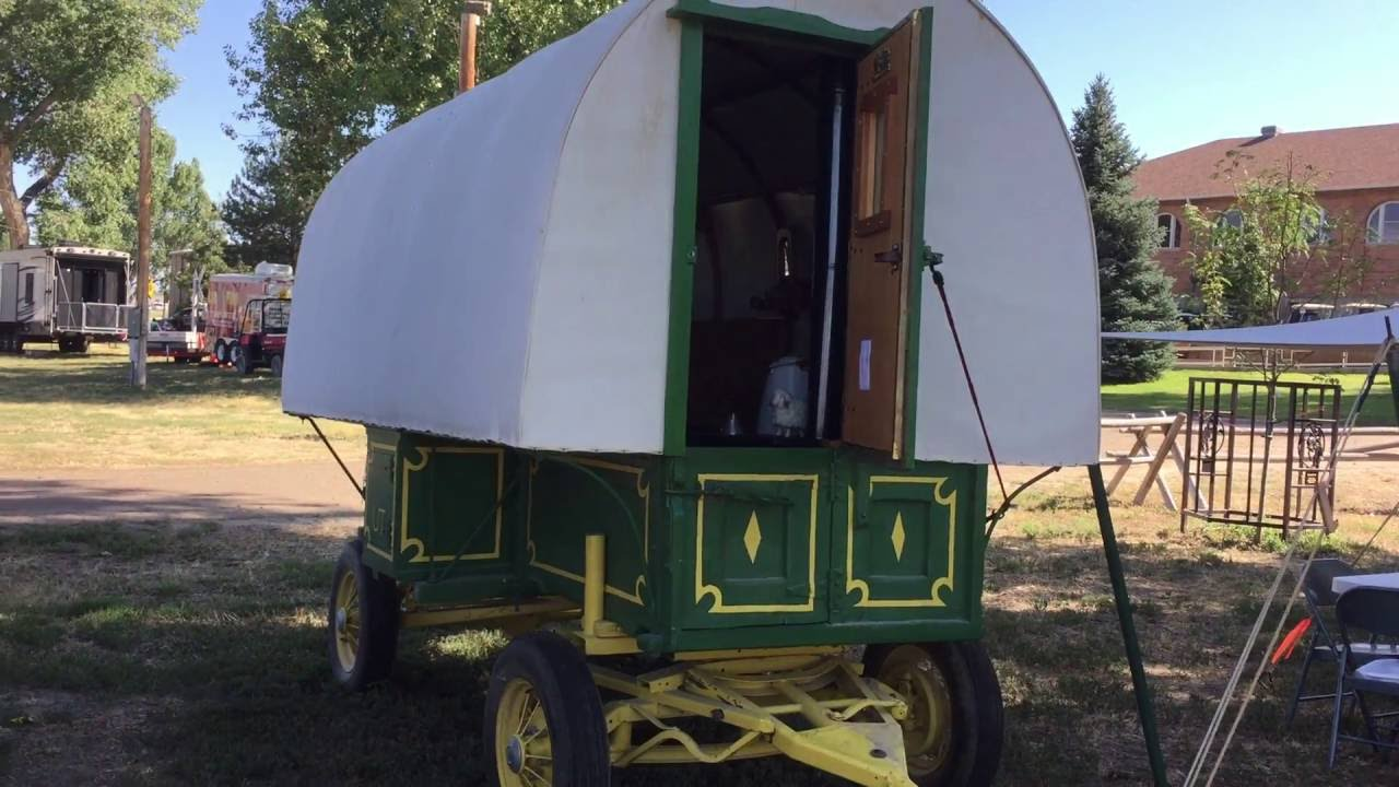 Old Sheep Wagon Renovation With Cast Iron Stove | Union Pacific Railroad  Yellow Paint