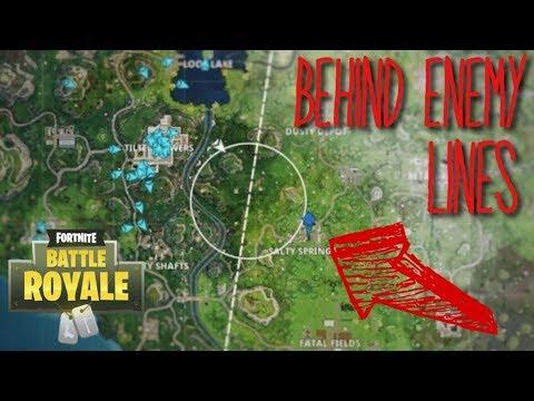 Landing BEHIND Enemy Lines! [50v50 Fortnite]