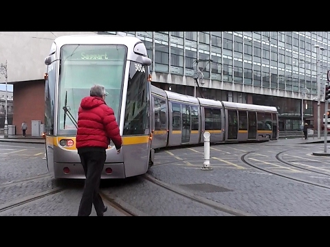 Luas Tram Number 3004 - Connolly to Busaras Station, Dublin