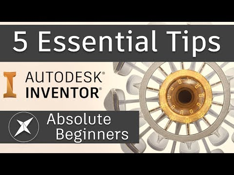 5 Essential Tips for BEGINNER Autodesk Inventor users!