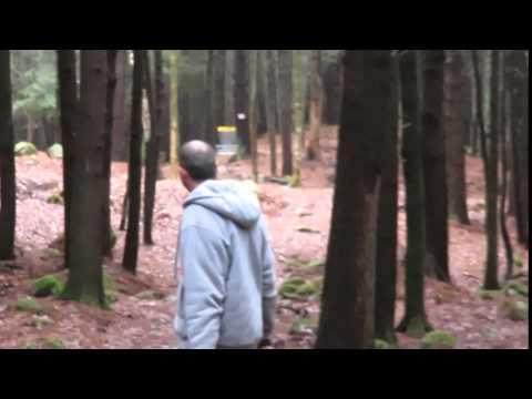 Disc Golf - sloppy winter tee pads