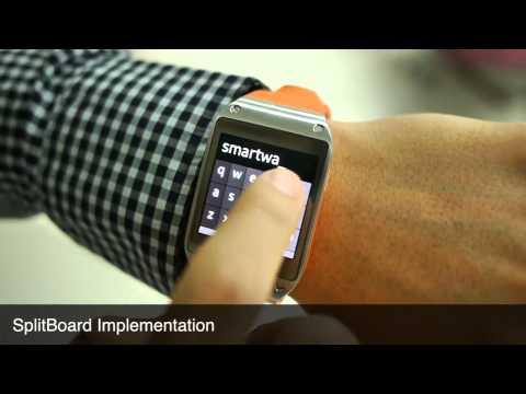 SplitBoard: A Simple Split Soft Keyboard for Wristwatch-sized Touch Screens