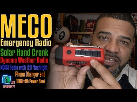 MECO Emergency Solar Hand Crank Dyno Radio 📻 : LGTV Review