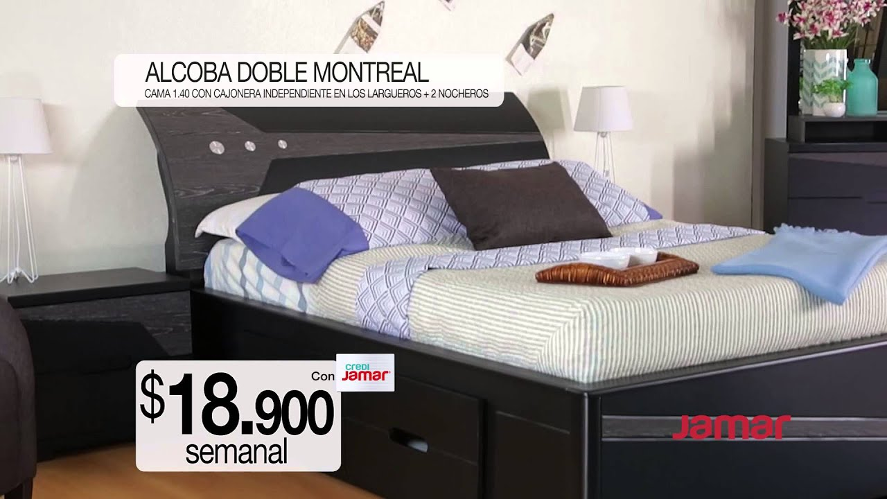 Comercial muebles jamar alcoba doble montreal youtube for Mueble jamar