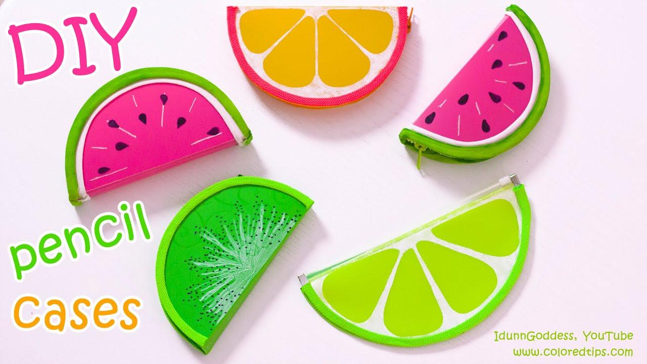 DIY Pencil Cases FRUITS Watermelon Lemon Kiwifruit