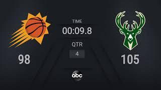 Suns @ Bucks Game 6   #NBAFinals on ABC Live Scoreboard