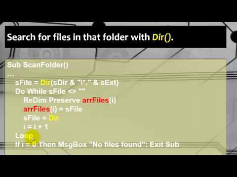 Scan your folders with Excel VBA by using Dir()