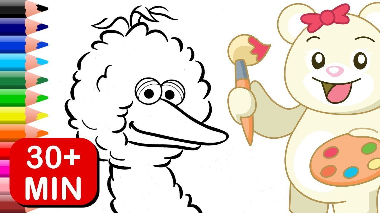 Big Bird, Abby and Zoe Sesame Street Coloring Book - YouTube
