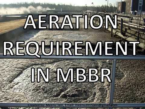 Calculation of Aeration Requirement in MBBR