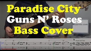 Paradise City - Bass Cover