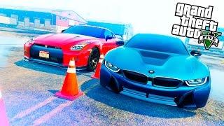 РЕАЛЬНАЯ ЖИЗНЬ В GTA 5 - УЧАСТВУЮ В УЛИЧНЫХ ГОНКАХ НА BMW i8! 🌊ВОТЕР