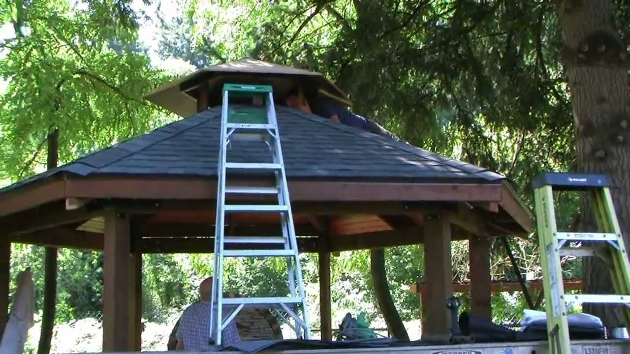 Custom built gazebo and grill doovi for Built in gazebo