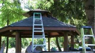 wooden-gazebo-6 Gazebo Plans With Fireplace