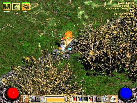 Diablo II Hell Cow Level - YouTube