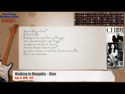 Walking In Memphis - Cher / Marc Cohn Guitar Backing Track with ...