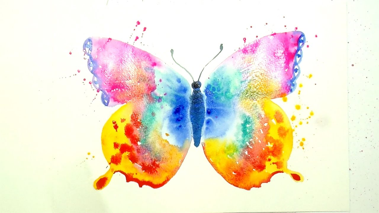 How To Paint And Color A Beautiful Butterfly