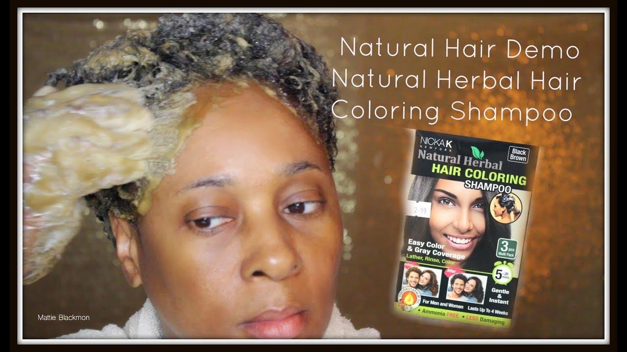 Watch Me Color My Natural Hair Gray Strands | Nicka K Natural Herbal Hair Coloring Shampoo