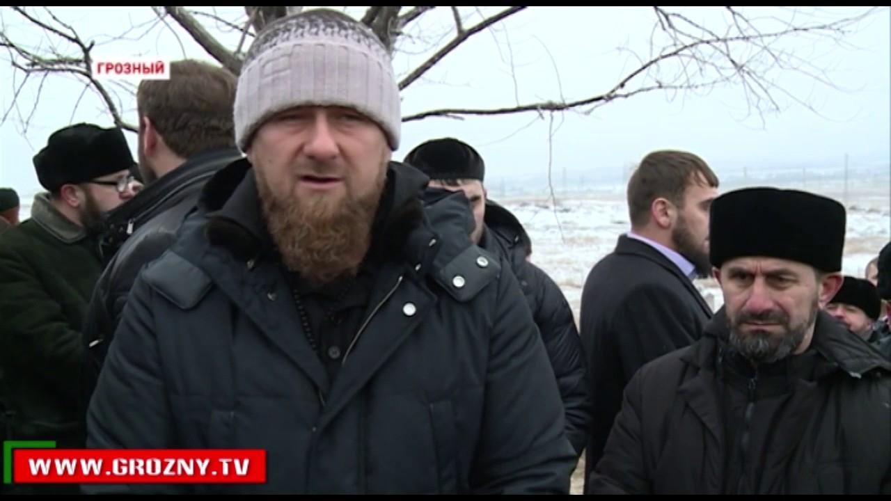 В Грозном похоронили останки 109 людей, найденных ранее в Октябрьском районе