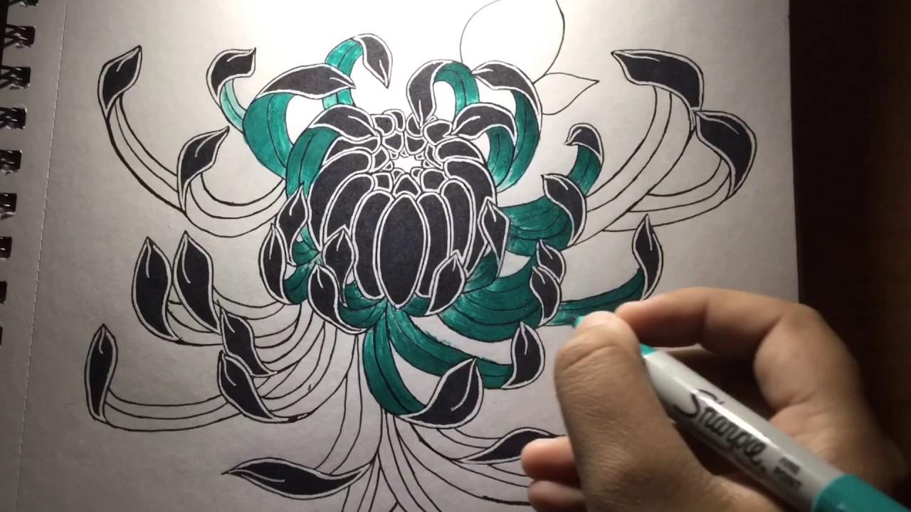 japanese chrysanthemum tattoo design youtube. Black Bedroom Furniture Sets. Home Design Ideas
