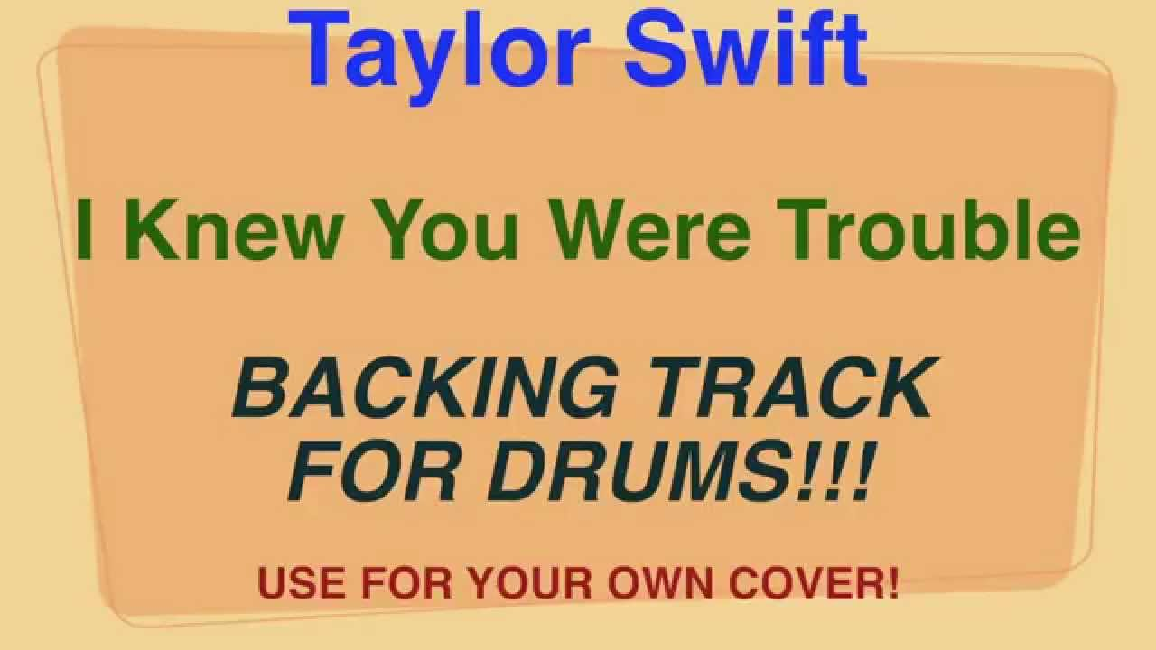 Taylor swift i knew you were trouble backing track for drums taylor swift i knew you were trouble backing track for drums cover by ely jaffe hexwebz Images