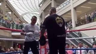 LEEDS RUMBLE! - JOSH WARRINGTON PAD WORKOUT IN FRONT OF LEEDS FANS / WARRINGTON v HYLAND