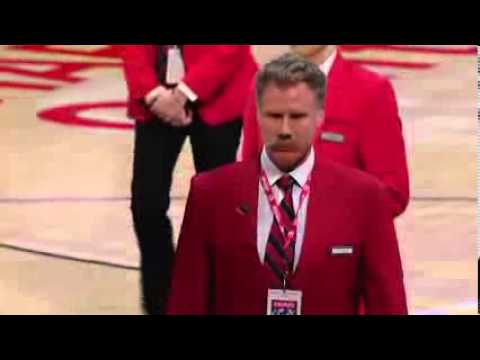 Will Ferrell Works Lakers Game As A Red Coat Security Guard ...