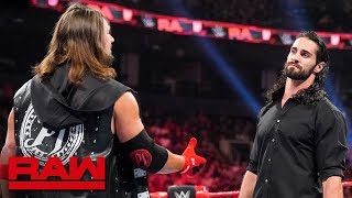 Download AJ Styles steps to Seth Rollins: Raw, Aug. 12, 2019 Mp3 and Videos