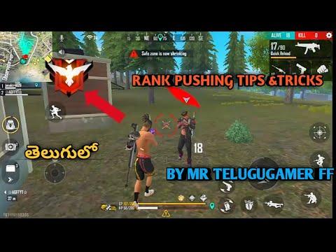FREE FIRE TELUGU   RANK PUSHING TIPS   WITH OP KILLS   BY MR TELUGU GAMER FF
