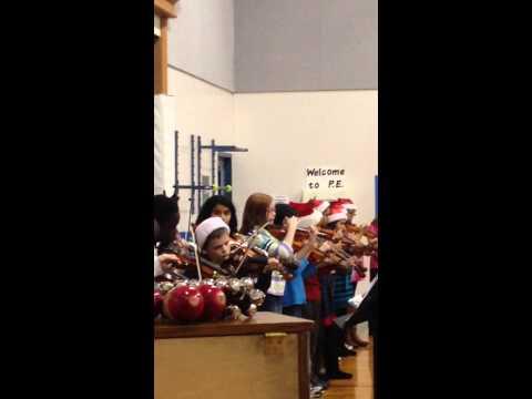 Christmas Strings number John Newbery Elementary December 2014