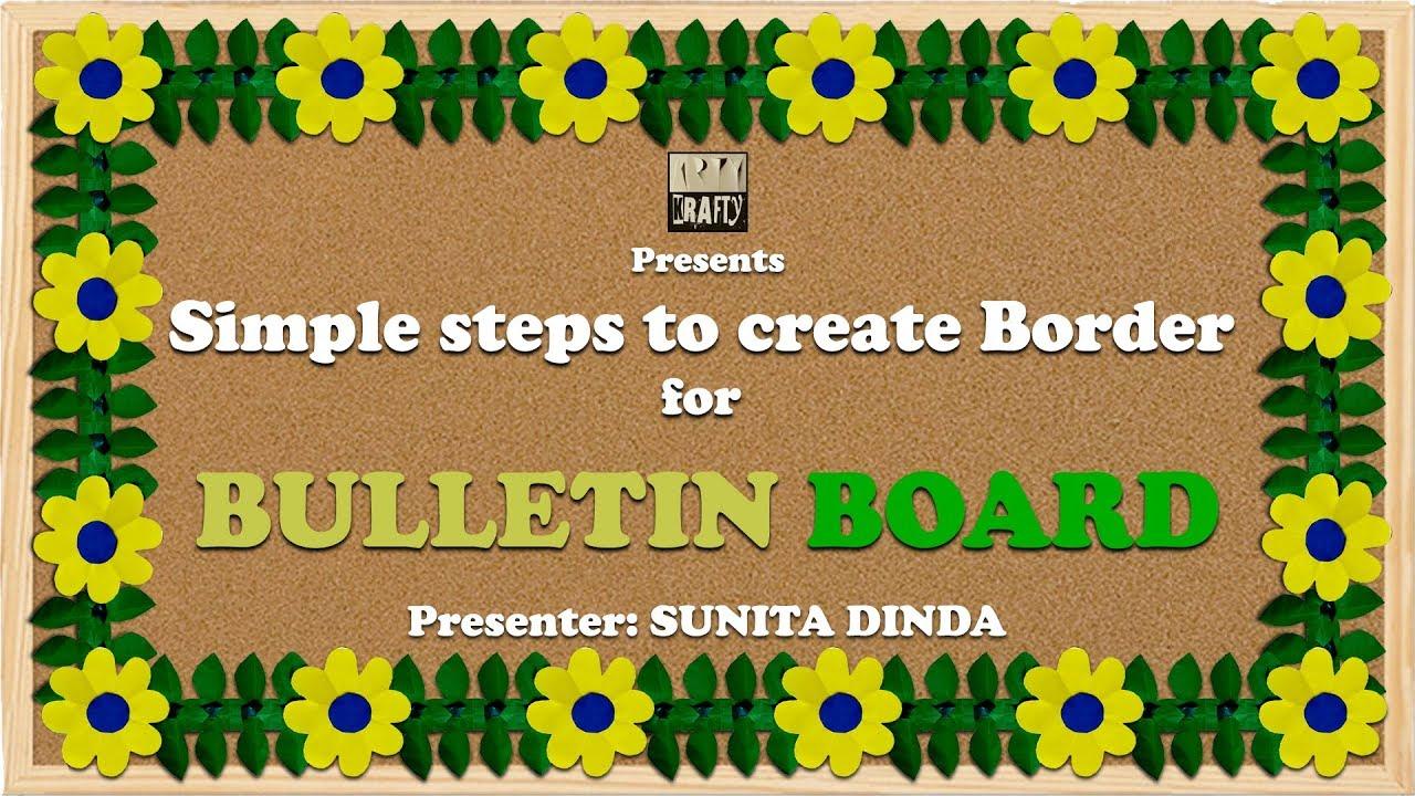 Simple steps to create BORDERS for Bulletin boards in school Inside Bulletin Board Template Word