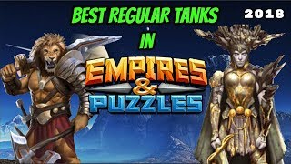 5 Best Regular Tanks in Empires and Puzzles & bonus tank