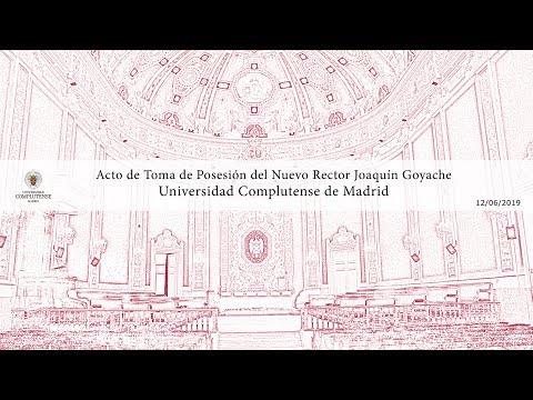 Acto De Toma De Posesión Del Rector De La Universidad Complutense De Madrid Joaquín Goyache.