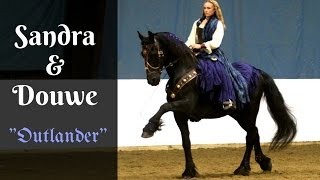 Sandra Beaulieu performing with her 15 year old Friesian gelding Do...