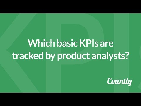 Which basic KPIs are tracked by product analysts?