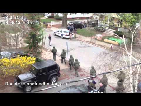 Dzhokhar Tsarnaev captured on Franklin Street, Watertown