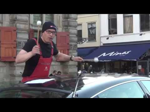ACDC - Thunderstruck (on a car)