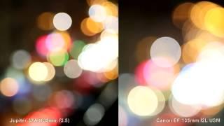 Bokeh test: Canon EF 135mm f2L vs Jupiter 37A (135mm f3.5) - Тесты объективов от Olegasphoto