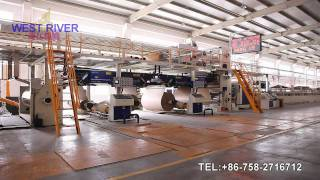 China Newst 2500mm Corrugated Cardboard Production Line(a&c,b&e Flute)