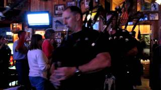 Seattle Firefighters Pipes and Drums at the Tugboat in Steamboat Springs