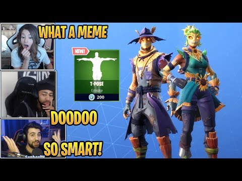 Streamers React To *NEW* Hay Man, Straw Ops Skins & T-Pose Emote!  - Fortnite Best And Funny Moments