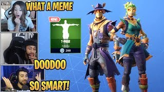 Streamers React to 'NEW' Hay Man, Straw Ops Skins - T-Pose Emote! - Moments forts et drôles de Fortnite