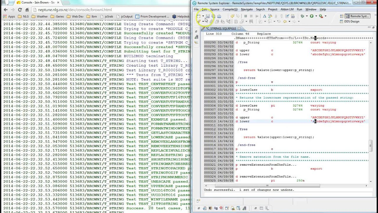 Example Of Automatically Compiling RPGLE and Running Unit Tests