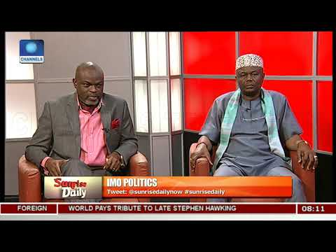 Imo Governorship Race And Endorsement Controversies Pt.2 |Sunrise Daily|