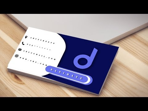 HOW TO DESIGN BUSINESS CARD / VISITING CARD | PHOTOSHOP | TUTORIAL  #2 thumbnail