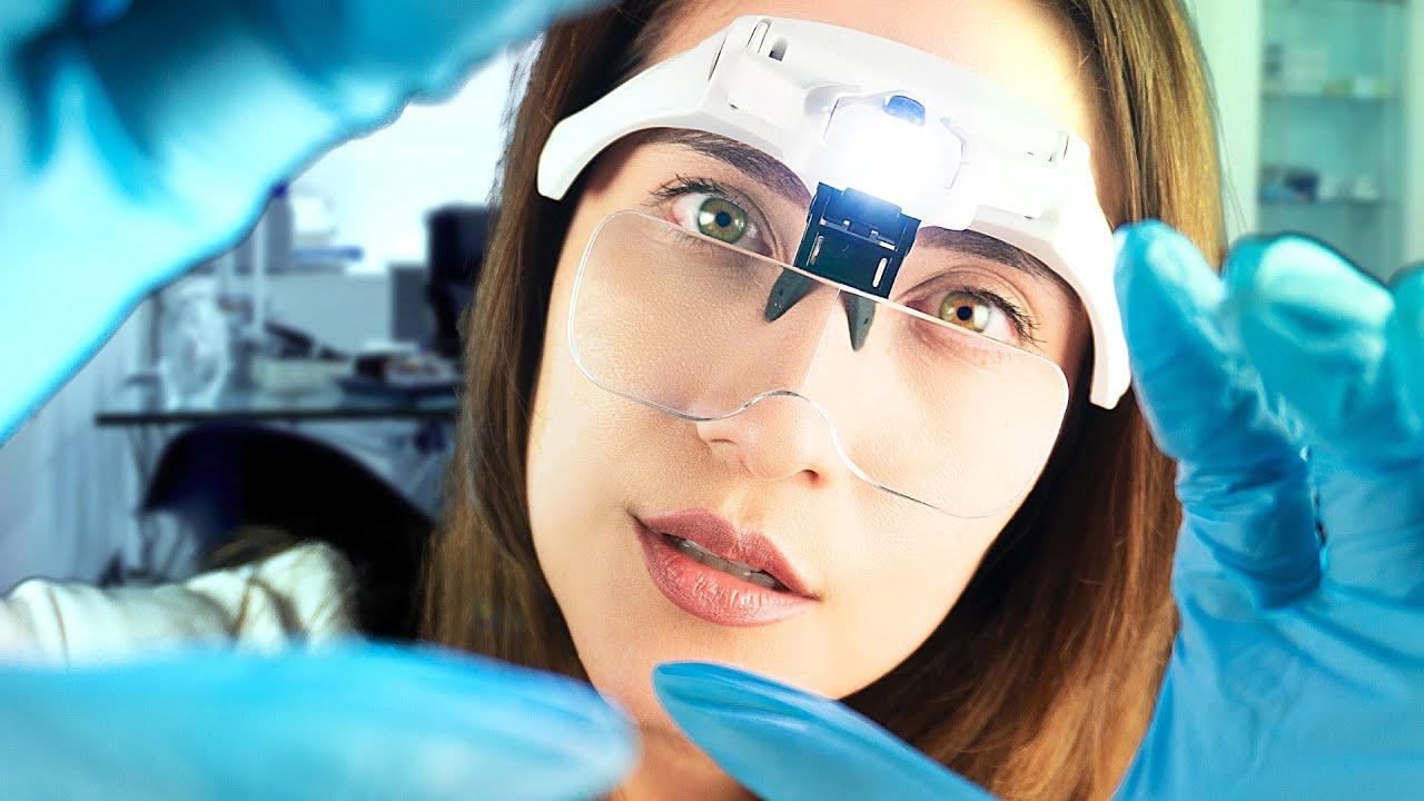 Asmr   Examen completo de los  nervios craneales, casi 2 horas de visita minuciosa  Asmr en español