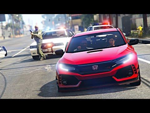 ROLE DIFERENCIADO COM A NOVINHA NO HONDA CIVIC TYPE-R 2018 - GTA V Mods