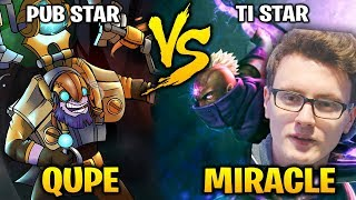 QUPE Tinker vs MIRACLE Anti Mage: PUB STAR vs TI STAR