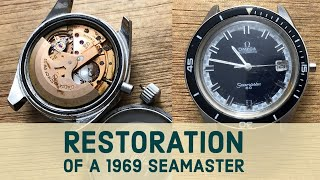 RESTORATION OF A 1969 OMEGA SEAMASTER 60 - PART 1 - RUSTY NON-WORKING VINTAGE WATCH BACK TO LIFE